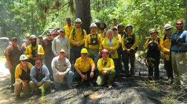 Texas Longleaf Team Assists with Delivering Fire Course