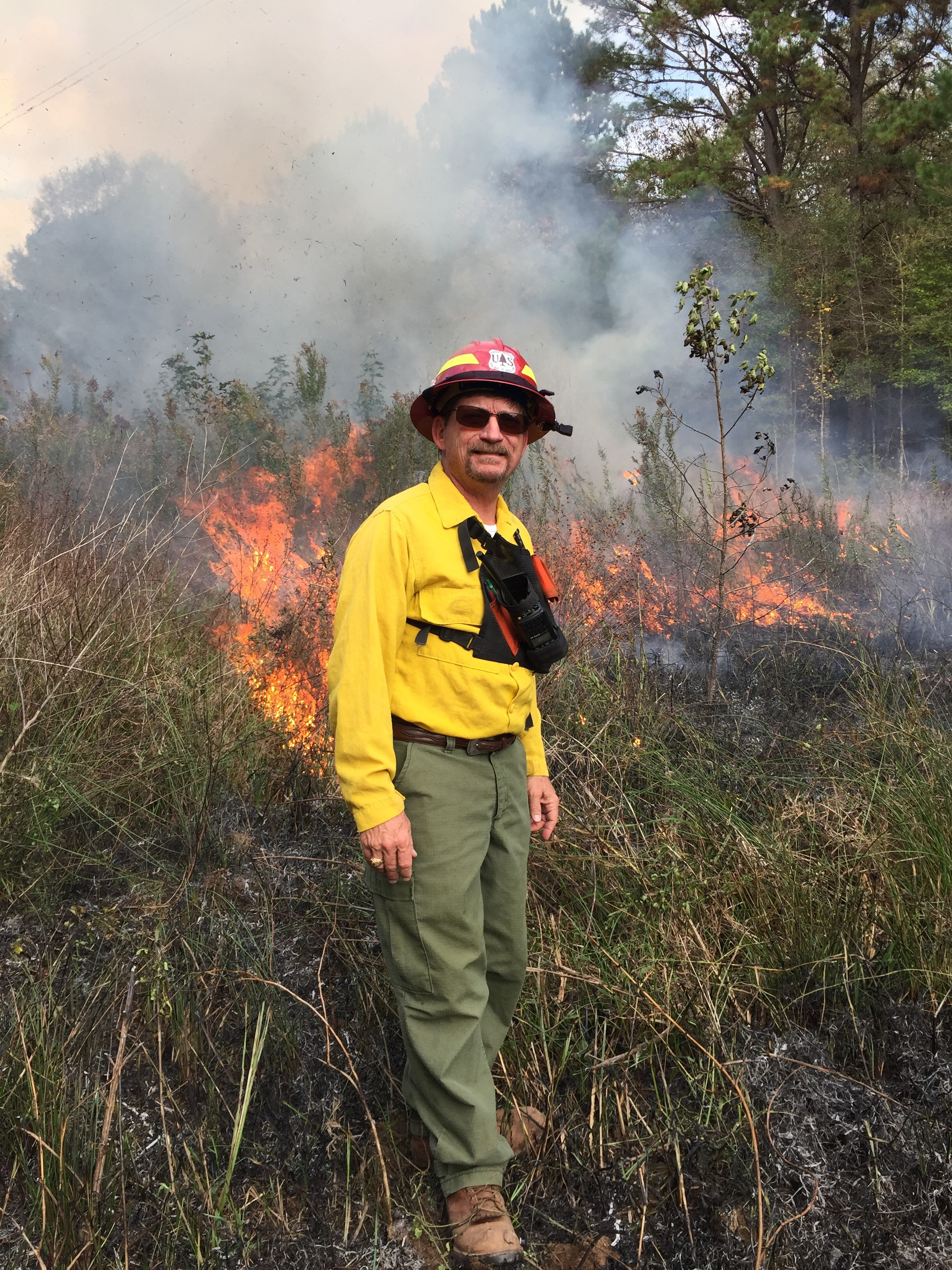 Your TLIT Coordinator assisting with prescribed burn training at Alazan Bayou WMA with TWPD and the Longleaf Alliance. Photo credit: Kent Evans
